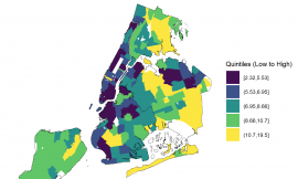 Socioeconomic disparities in subway use and COVID-19 outcomes in New York City