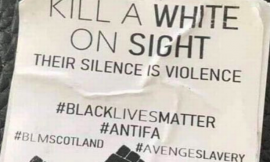 """Black Lives Matter Scotland say they did not produce """"Kill a White On Sight"""" stickers"""