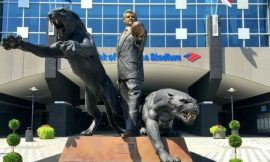 Why the Panthers removed the Jerry Richardson statue in front of their stadium