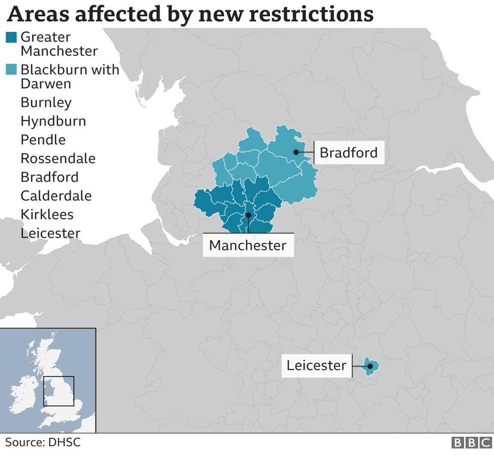 Facebook post on lockdown rule changes are right for certain parts of England