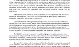 Questions and answers on Data Monitoring Committees issues