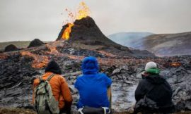 Drone footage reveals dramatic Iceland volcanic eruption
