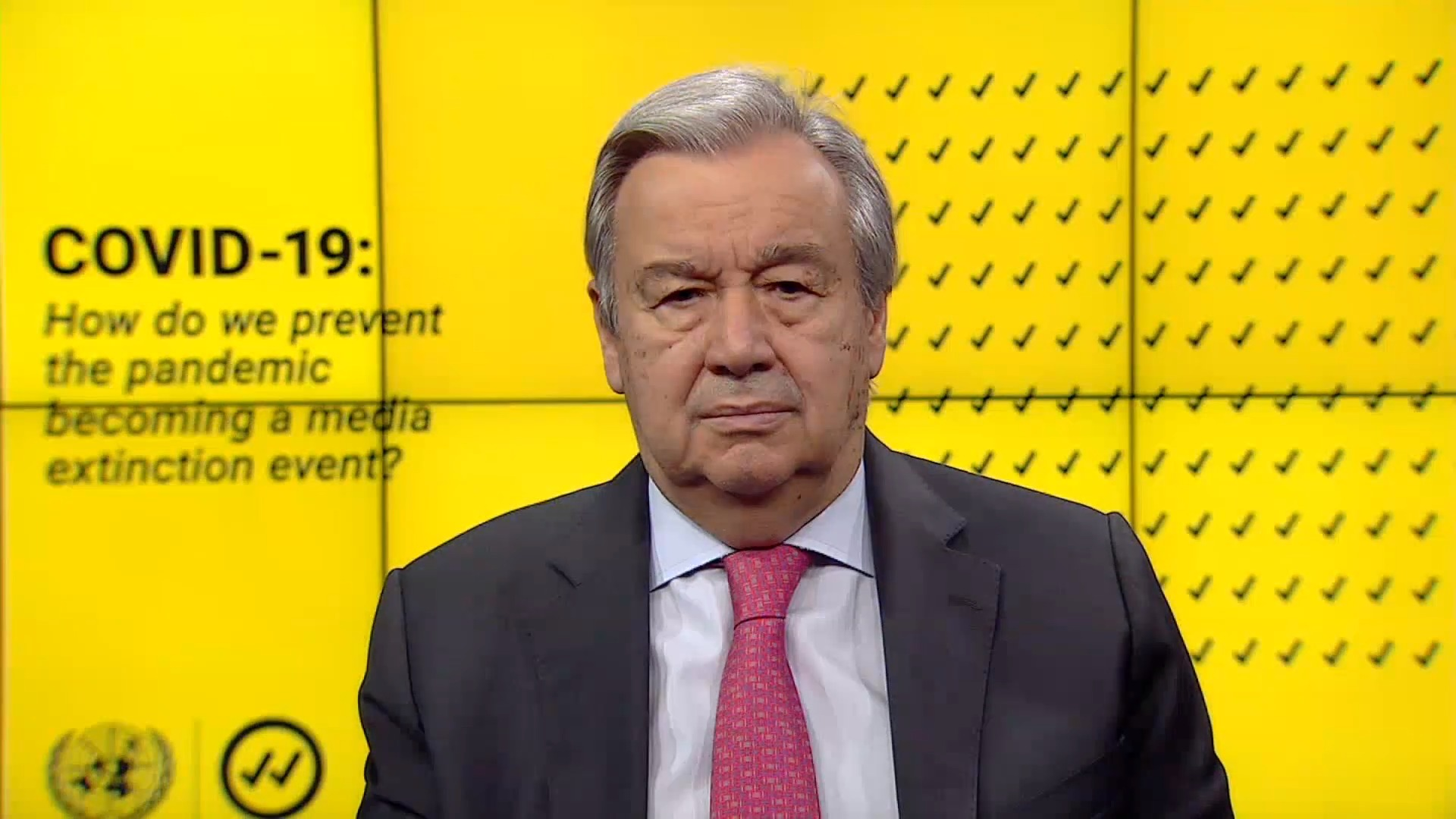 Pandemic cannot become a 'media extinction event': UN Secretary-General