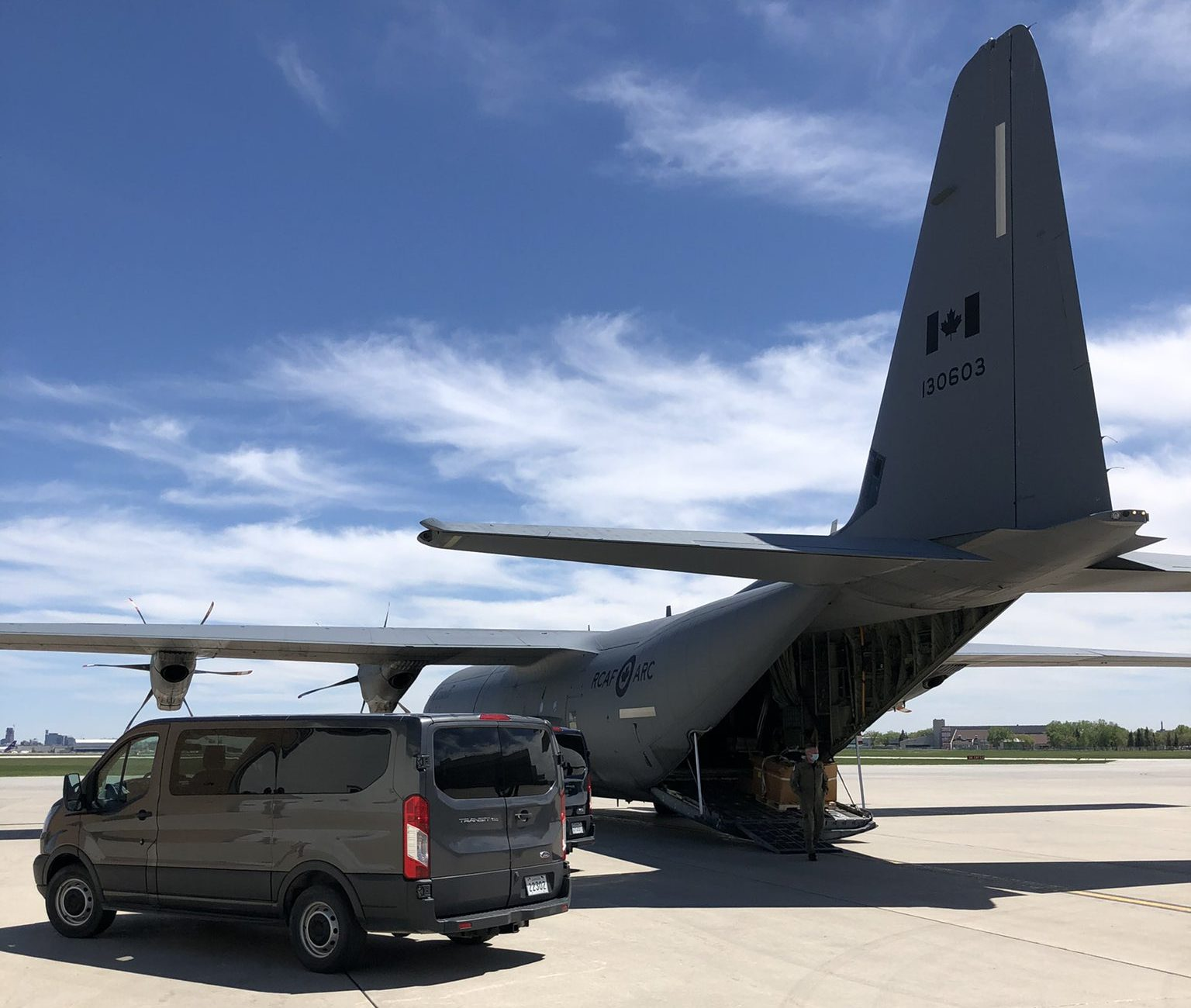 Medically equipped Hercules plane to transport Manitoba ICU patients to other provinces