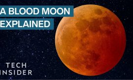 Why does the moon turn red during a total lunar eclipse?